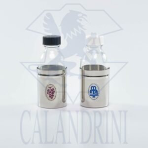 Pair of water bottles and armor wine