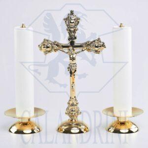 Candeliere con piatto 12 cm., bossolo 4 cm.