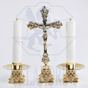 Candeliere capitello 11x9 h. cm., piatto 15 cm., bossolo 5 cm.
