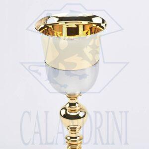 Calice Malta nikel satinato coppa dorata