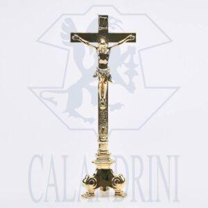 Cross on baroque candlestick