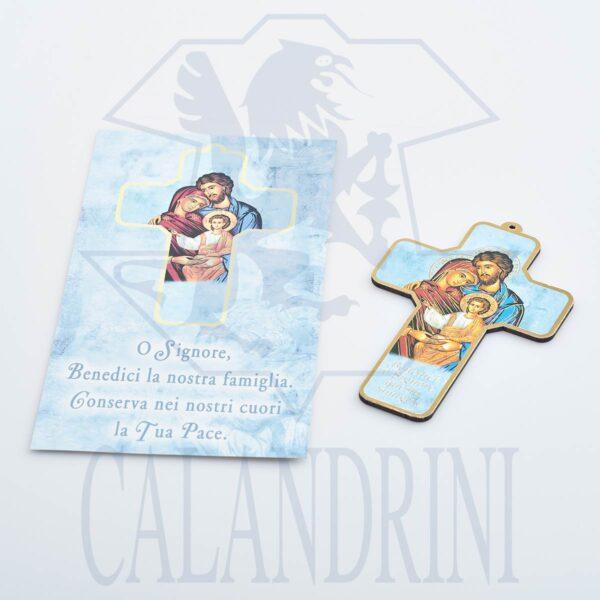 Croce semplice Battesimo con bordo oro