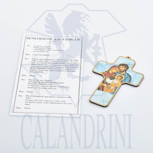 Baptism Cross with gold border and parchment with prayer