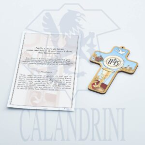 Cross Communion with gold border and parchment with prayer
