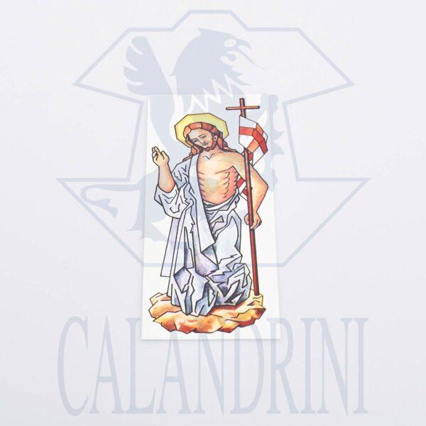 Decalcomania h. cm. 21 Cristo Risorto